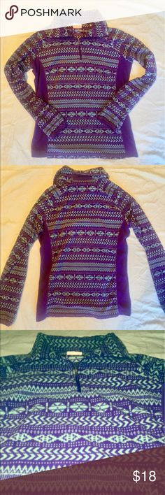 Columbia half zip💜 Wonderful condition for a used sweatshirt/ jacket! So adorable. So if not bought I'm sure I'll want it for this winter😊 Best view of the color it is, is the last picture! Columbia Tops Sweatshirts & Hoodies