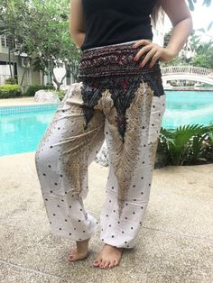 Plus Balloon Ginnie woman pants casual Aladdin yoga harem trousers Bohemian Mode, Hippie Boho, Boho Chic, Balloon Pants, Yoga Trousers, Bohemian Schick, Aladdin Pants, Boho Fashion Summer, Casual Summer