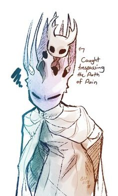 There's a theory that the knight is actually the pale king in his alternative form Art Sketches, Art Drawings, Character Art, Character Design, Team Cherry, Hollow Night, Hollow Art, Knight Art, Fanart
