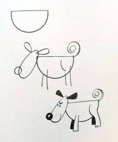 Cùng bé học vẽ chú chó