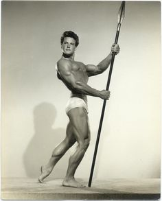 Steve Reeves, at least a decade before playing Hercules on the silver screen, in a photo by Spartan of Hollywood.