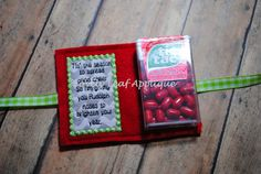 Rudolph Poop/Pill Mint Holder ITH Feltie by LovelyLeafApplique