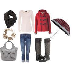 I dress nothing like this on Rainy days...but I should