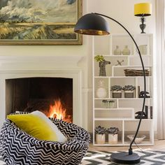 The Arc Black Metal Floor Lamp | Lighting | Graham and Green