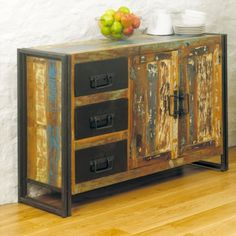 Baudouin Shabby Chic Vintage Reclaimed Lumber Sideboard (three drawer, two door) by Bonsoni by Bonsoni on Etsy Ikea Living Room, Living Room Furniture, Home Furniture, Online Furniture, Devon, Home Decor Items, Diy Home Decor, Bathroom Sinks For Sale, Industrial Home Design