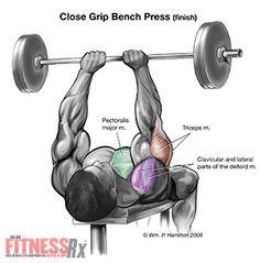 Close grip bench presses