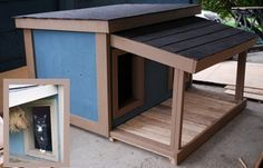 dog house plans with deck