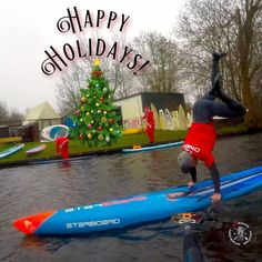 Fun with the Christmas Stand Up Paddle tour in Holland Stand Up Paddling, Paddle, Holland, Skateboard, Tours, Outdoor Decor, Christmas, Fun, Pictures