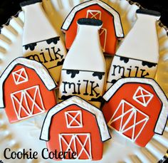 Milk Bottle Barn Dairy Farm Themed Decorated by CookieCoterie