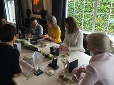 """On February 18, 2016, Queen Mathilde of Belgium attended a lunch organized by """"Markant"""" which is the enterprise network of all women at Herbert Robbrecht Restaurant."""