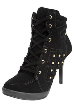 Ankle Boot Crysalis Amarração Fashion Preto