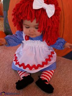 Raggedy Ann Baby Costume - Halloween Costume Contest via @costume_works