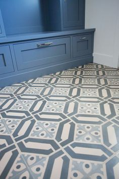 Pretty tonal colors in the tile. Interior design by Caitlin Creer Interiors