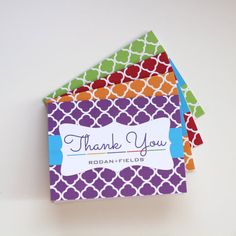 Rodan Fields Thank You Cards Multi-color by DandelionDaffodil