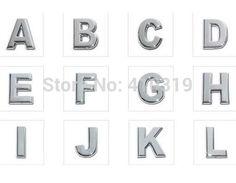 260pcs/lot 10mm A-Z chrome slide letter DIY English Alphabet fit for 10mm phone strips