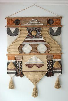 vintage Don Freedman Fiber Textile Art Wall by ModishVintage