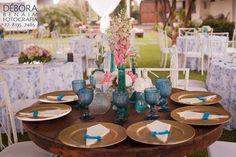Decoração de Casamento Provençal | Azul e rosa | Casamento ao ar livre