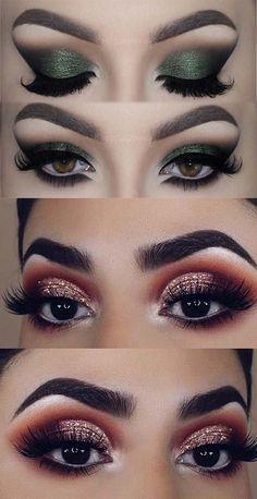 Daytime And Dramatic Eye Makeup Ideas Dramatic eye makeup smokey prom eyes tutorial. Dramatic Eye Makeup, Eye Makeup Steps, Colorful Eye Makeup, Dramatic Eyes, Makeup For Green Eyes, Natural Eye Makeup, Smokey Eye Makeup, Makeup Tips, Makeup Ideas