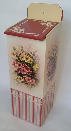Fashion Art, Floral, Diy And Crafts, Decorative Boxes, Painting, Bucket Bag, Country, Home Decor, Ideas