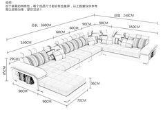 U em forma de sofá de canto da tela de luxo sala de estar mobiliário moderno conjunto de sofá secional design sofás para sala de estar em Sofá para a sala de Móveis no AliExpress.com | Alibaba Group