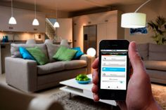 Philips will begin selling its high-tech Hue LED light bulbs exclusively in Apple stores from tomorrow. Hue light bulbs are fully customizable, and offer up a choice of 16 million colors by. Phillips Hue, Smart Home Security, Smart Home Technology, Mobile Technology, Technology News, Home Automation System, Microsoft, Starter Set, Tech House