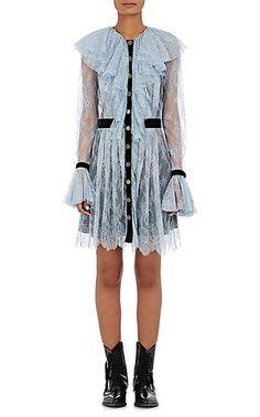 Philosophy di Lorenzo Serafini Lace & Velvet Minidress - Dresses - 504666679