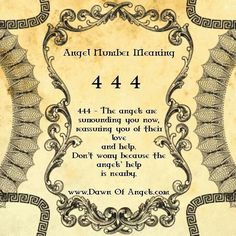 Numerology: Angel Numbers 444 Meaning | #numerology #angelnumbers