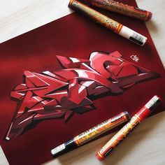 ASNO with a 3D sketch using Molotow Markers available at our shop!