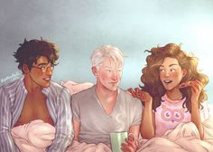 Coffee and pizza by upthehillart - Harry Potter, Draco Malfoy, Hermione Granger Fanart Harry Potter, Arte Do Harry Potter, Harry Potter Artwork, Harry Potter Drawings, Harry Potter Ships, Harry Potter Love, Harry Potter Universal, Harry Potter Fandom, Harry Potter Memes