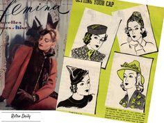 1938 fall vinage fashion hats