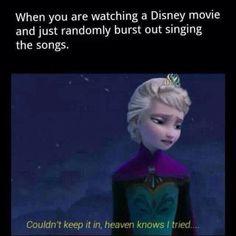True. Singing Disney songs