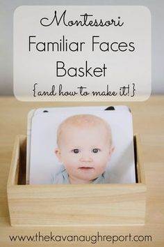 Basket of Montessori Familiar Faces - The Kavanaugh Report: Montessori Famil . - Basket of familiar Montessori faces – The Kavanaugh report: Montessori Famil … – Basket of fa - Toddler Play, Toddler Learning, Baby Play, Infant Play, Infant Care, Newborn Care, Montessori Baby, Montessori Bedroom, Montessori Elementary