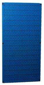 32in x 16in Blue Metal Pegboard Tool Board Panel