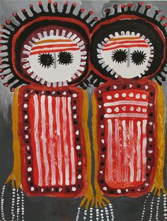 Am homesick so getting inspired by looking at so many of our talented Aussie artists - Arbi Wandjinas ~ Artist: Jack Dale Aboriginal Patterns, Aboriginal Painting, Aboriginal Culture, Aboriginal Artists, Dot Painting, Indigenous Australian Art, Indigenous Art, Kunst Der Aborigines, Naive Art
