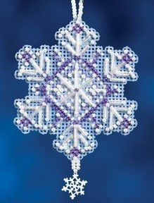 Amethyst Crystal Christmas Ornament counted cross stitch kit by Mill Hill