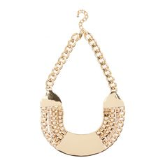 Opt for ultimate glamour with this gold chunky bib necklace. The chain detail adds dimension to this statement piece. Keep it in focus against neutral tops and sweaters. Neutral Tops, Gold Necklace, Glamour, Jewellery, Chain, Detail, Style, Swag, Jewels