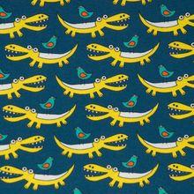 Krokodil - blauw geel