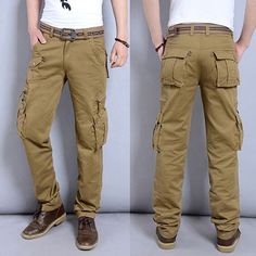 eb324cbc New Casual Men Tactical Pants multi-pockets Men Pants available Fashion