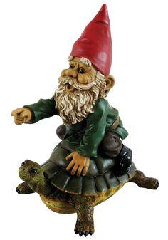 Michael Carr Garrold Gnome On Turtle Statue & Reviews | Wayfair