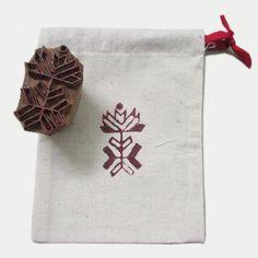 Drawstring Favor Bag Sack Block Printed Indian by TheIndianBazaar, $1.99