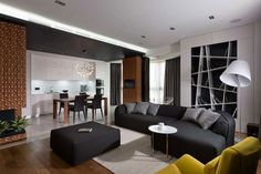 An Ornate Apartment in Shades of Grey