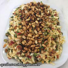 Aysel'in Mutfağı: TATLI EKŞİ SOSOLU LAHANA SALATASI Joy Of Cooking, Pasta Salad, Meat, Chicken, Ethnic Recipes, Food, Crafts, Salads, Recipes