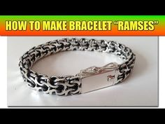 A genius way to make a chainmaille bracelet by TheSlavTV. Instead of a gazillion jump rings, he winds together two coils of round wire, cutting as he goes. At the end, he filles the completed chain, resulting in what looks like square wire links.