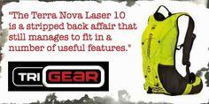 TG is loving the stripped back simplicity of the Terra Nova Laser 10 race pack - www.TriGear.co.uk