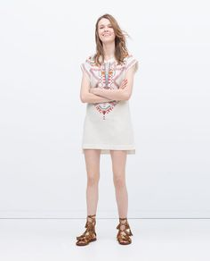 Image 1 of EMBROIDERED TUNIC from Zara