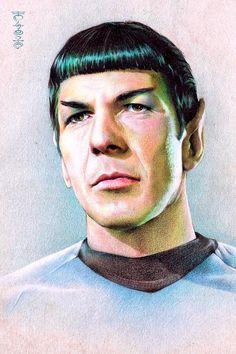 Mr. Spock by Lei-Feiyang on DeviantArt #startrek #tos #fanart