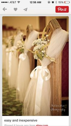 If you're planning on having your wedding in a church, you need to consider the best wedding flowers for your venue. That way, you can add a magical and romantic touch to your special day. You will have an easy time choosing church wedding flowers to. Wedding Pews, Wedding Events, Our Wedding, Dream Wedding, Wedding Church, Trendy Wedding, Tulle Wedding, Wedding Flowers, Weddings