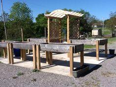Seniors in wheelchairs can continue to garden at the senior garden site | Kitchen Gardeners International