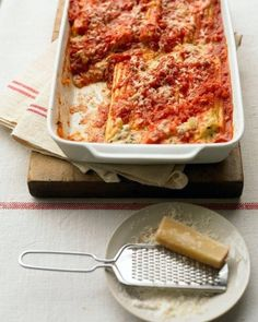 Ricotta Manicotti with Tomato Sauce | OMG Lifestyle Blog | Valentine's Day Menu Suggestions