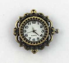 NEW! 1 Quartz Bronze Tone Ornate Watch Face - craft supplies, jewelry making W-001-B by AndreasArtJewelry on Etsy